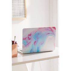 Unicorn Magic MacBook Pro Retina Skin ($16) ❤ liked on Polyvore featuring home, home decor, apple home decor, inspirational home decor, apple screen, pink home decor and unicorn home decor