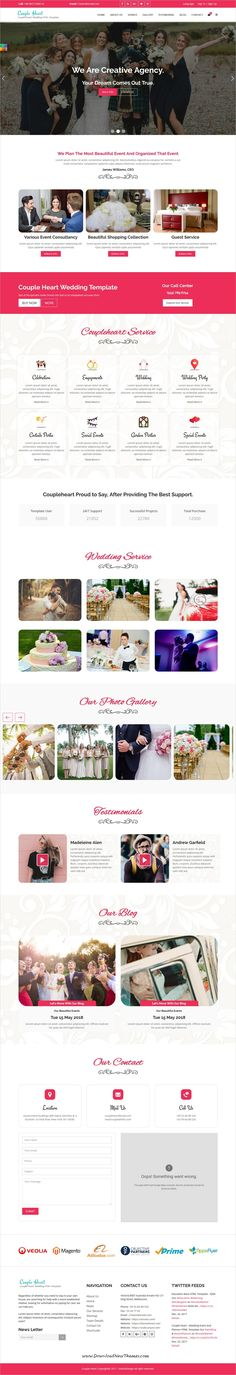 Couple Heart is clean and modern design responsive #bootstrap template for stunning #wedding event and #planner website to live preview & download click on Visit