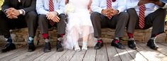 so cute!…well obviously it'd only work if all the guys had argyle socks...