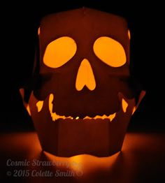Cosmic Strawberry - Yorick - Cricut® 3D Skull (lit up)
