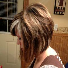 Highlights, shoulder length cut, pretty hair cut