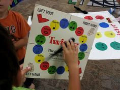 Music Note Twister - can be used as a center. Could do this with sight words or other concepts.