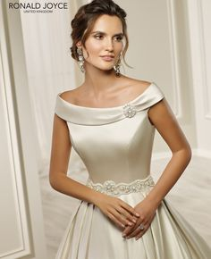 Ronald Joyce 69212 HARMONY Clean Line Satin Dress Ivory You can find different rumors about the annals of the marriage … Wedding Dresses For Sale, Elegant Wedding Dress, Bridal Dresses, Wedding Gowns, Bridesmaid Dresses, Boho Wedding, Dream Wedding, Satin Dresses, Lace Dress