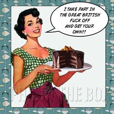 Items Similar To Bake Off Birthday Card Greetings Blank Sweary Rude On Etsy
