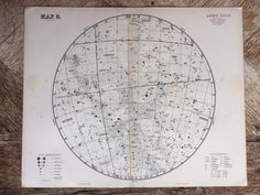 1896 Original Large Antique Star Map for anno 1880 - 14 x 18 inches - astrology, astronomy, stars, zodiac, constellations, star-gazing by NinskaPrints on Etsy https://www.etsy.com/uk/listing/520506373/1896-original-large-antique-star-map-for