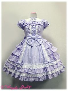 Angelic Pretty / One Piece / Sweets Princess OP Ag Doll Clothes, Doll Clothes Patterns, Kei Visual, Lilac Dress, Angelic Pretty, American Girl Clothes, Japanese Street Fashion, Online Dress Shopping, Ballet