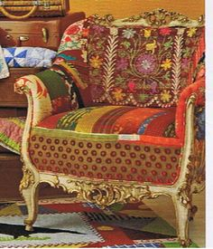Furniture Upholstery Using Mix and Match Fabric. A Cheaper Way To Upholster.