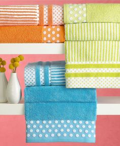"""Bianca """"Dots & Stripes"""" Towel Collection"""