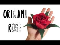 Origami Pentagonal Rose (Riccardo Foschi) - Inspired by Naomiki Sato's and Kawasaky's Rose - YouTube