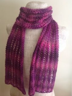 unforgettable yarn scarf patterns | ... of Red Heart Boutique Unforgettable in Petunia with size 10.5 needles
