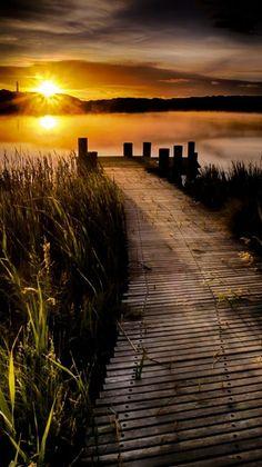 ¿Os pasa igual que a mí al ver esta foto? Dan ganas de tomar un paseo tranquilo para llegar al final del camino y sentarse a contemplar lo maravillosa que es la vida
