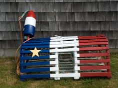Acadian flag lobster trap Lobster Trap, Crab And Lobster, Visit Nova Scotia, Cajun French, Acadie, Cape Breton, Old Glory, New Brunswick, Fishing Villages