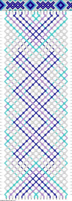 Muster # 71777, Streicher: 20 Zeilen: 58 Farben: 4