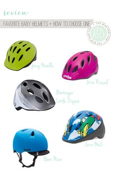how to choose a bike helmet for a tot