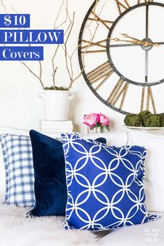 How To Make Inexpensive Pillows And Pillow Covers That Are Practically Made  For You. Easy. Inexpensive Home DecorCute ...