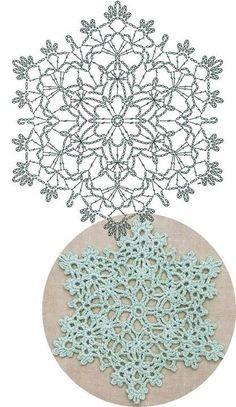 Crochet Snowflake Pattern, Crochet Coaster Pattern, Crochet Motif Patterns, Crochet Stars, Crochet Circles, Crochet Snowflakes, Crochet Mandala, Crochet Diagram, Thread Crochet