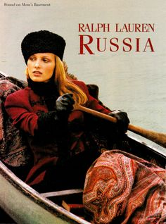 1993 ads for Ralph Lauren's Russia collection