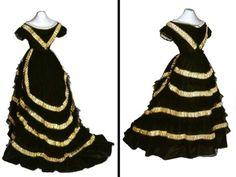Evening dress, ca 1865 United Kingdom (England), the Bowes Museum