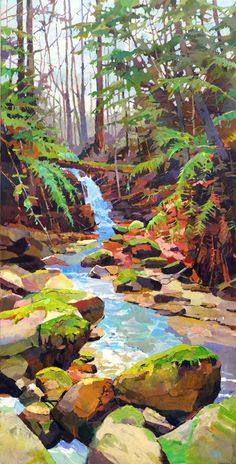 Acrylic-Palette-Knife-Painting-Techniques-and-IdeasYou can find Painting techniques and more on our website.Acrylic-Palette-Knife-Painting-Techniques-and-Ideas Watercolor Landscape, Abstract Landscape, Landscape Paintings, Landscape Rocks, Contemporary Landscape, Fantasy Landscape, Abstract Paintings, Landscape Architecture, Gouache Painting