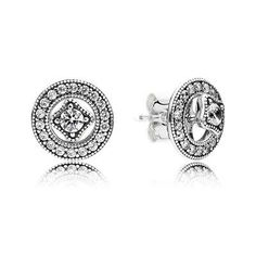 Our classically elegant sterling silver stud earrings have a decidedly vintage feel. Shop your Pandora Stud Earrings here. Pandora Uk, Pandora Charms, Pandora Bracelets, Pandora Jewelry, Mirror Jewelry Armoire, Neck Chain, Earrings Uk, Sterling Silver Earrings, Silver Rings