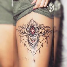 Tattoos for myself - tatoo feminina Tattoo Femeninos, Tattoo Bein, Cover Tattoo, Piercing Tattoo, Piercings, Lion Tattoo, Tattoo Quotes, Pretty Tattoos, Sexy Tattoos