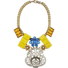 Lulu Frost 100 Year embellished chain necklace featuring polyvore fashion jewelry necklaces accessories women lulu frost jewelry lulu frost necklace multi color jewelry colorful necklace multi colored jewelry