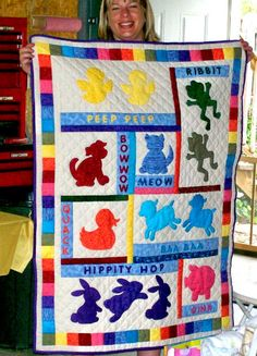 Baby Quilts Photo Gallery: Animal Crackers Baby Quilt