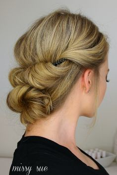 Tuck and Cover French Braid Half with a Bun