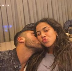 Rafinha and his sister.