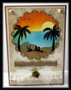 Wedding sunset beach card - Scrapbook.com