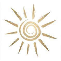 GOLD Sun METALLIC Jewelry Temporary Flash Tattoo Perfect Beach ...