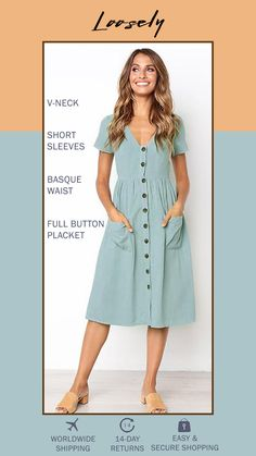 This romantic long sleeve swing dress is made from a lightweight cotton linen blend. Keep styling playful with retro sneakers. Casual Summer Dresses, Sewing Clothes, Swing Dress, Dress Patterns, Cool Outfits, Ootd, Trousers, Stylish, Retro Sneakers