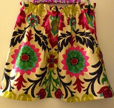 Suzani Patterned Skirt for Fall 2013 on Etsy, $59.99 Preppy Pink Shop