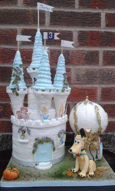 Pluto and the Princesses (hidden treasure cake) - Cake by Karen Flude