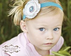 Love her headbands want to make for my lily