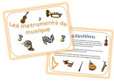 Projet sympa sur Les instruments de musique Instruments Of The Orchestra, French Immersion, Music School, Cycle 3, Montessori Activities, French Lessons, Music Classroom, Teaching Music, Music Education