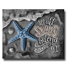 Starfish Art Beach Decor Starfish Print Beach by TheWhiteLime