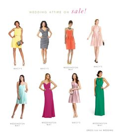 Wedding Attire on Sale - a round up of this weekend's sales on wedding guest dresses, bridesmaid dresses, and mother of the bride dresses
