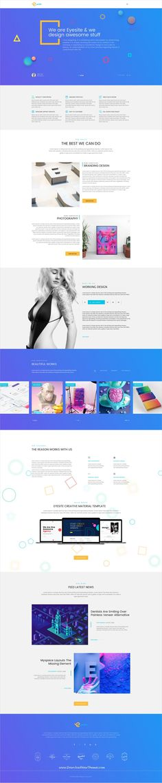 Eyesite is clean and modern design multipurpose #Sketch template for corporate, agency, business, portfolio, model or eCommerce shopping website with 18+ niche homepage layouts and 119 sketch files to live preview & download click on Visit 👆 #agencywebsite Mobile Design, App Design, Design Ideas, Site Inspiration, Business Web Design, Site Vitrine, Wordpress, Shopping Websites, Ecommerce