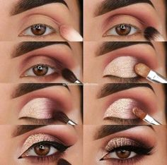 23 Pure Smokey Eye Make-up Make You Sensible eye make-up tutorial; eye make-up for brown eyes; eye make-up pure; Eye Makeup Tips, Skin Makeup, Eyeshadow Makeup, Makeup Ideas, Makeup Inspo, Drugstore Makeup, Makeup Products, Easy Eyeshadow, Easy Eye Makeup