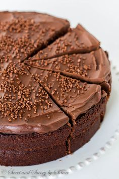 Ina's chocolate cake with mocha frosting is undeniably one of the best chocolate cakes out there! That mocha frosting is what really makes this cake!