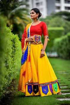 Fusion Vol 30 Designer Cambric Cotton with Aari Work Navratri Chaniya Choli at Wholesale Rate - Ethnic Export Garba Dress, Navratri Dress, Lehnga Dress, Bridal Lehenga Choli, Gharara Designs, Choli Designs, Kurti Designs Party Wear, Blouse Designs, Indian Wedding Outfits