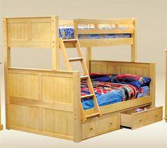 OCFurniture - Dillon Birch Twin Over Full Bunk Bed, $703.00 (http://www.ocfurniture.com/dillon-birch-twin-over-full-bunk-bed/) #bunkbed