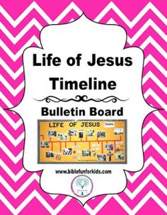 Bible Fun For Kids: Life of Jesus Timeline Bulletin Board with printables