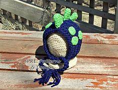 Ravelry: Tiny Dino Bonnet pattern by SPRE Patterns & Design $5.49