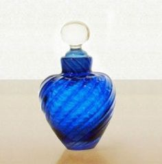 Image result for handmade glass blue perfume