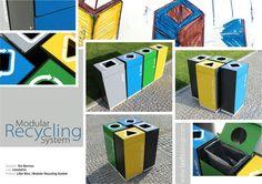 Litter bins // Modular Recycling System [street furniture]