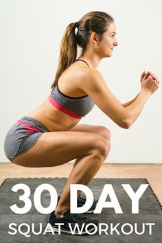 The 30 day squat workout is a simple setup to tone up your butt, your legs and your core muscles. Get started today!