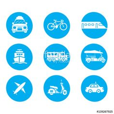 Vector: Transportation icons vector design.