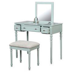 Michelle Vanity Set - Mint - Linon, Mint Green